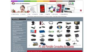 E-Commerce website screenshot